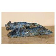 Chinese Lapis Lazuli Frilled–Neck Lizard