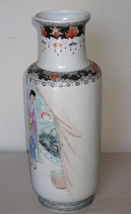 Chinese Porcelain Baluster Vase Dynasty Collections Antiques