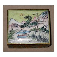 Chinese Small Enamel Trinket Box