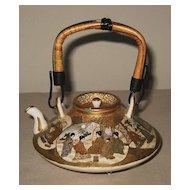 Exquisite Japanese Antique Ceramic Satsuma Teapot