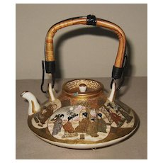 Exquisite Japanese Antique Ceramic Satsuma Teapot