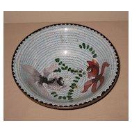 Japanese Old Cloisonné Bowl Gold Fish Motif