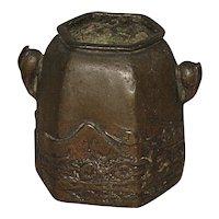 Antique Japanese Bronze Brushwasher