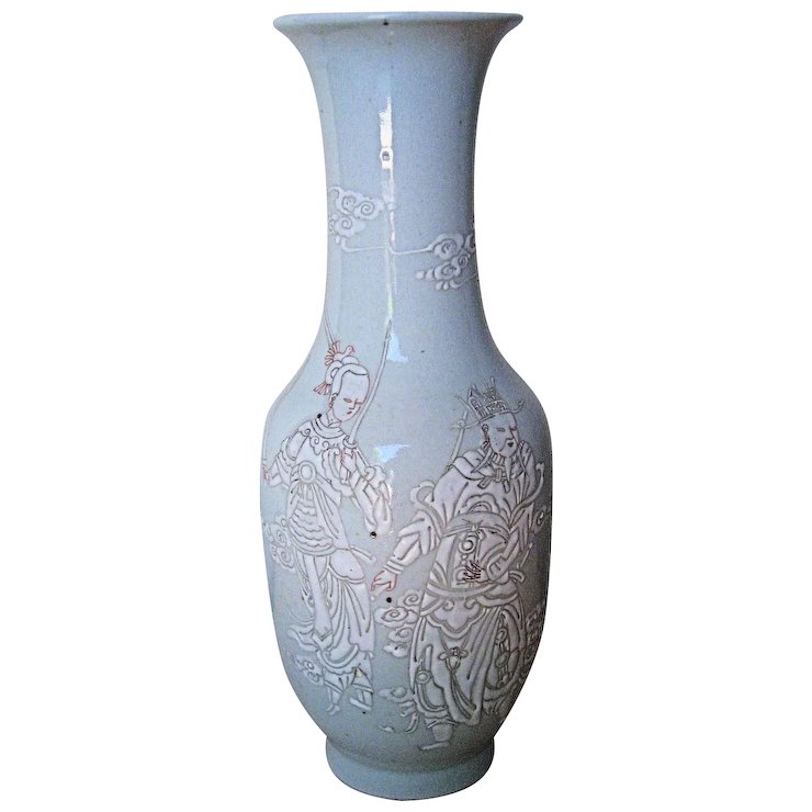 Chinese Antique White Porcelain Vase Dynasty Collections