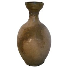 Korean, Early Yi Dynasty Bottle-Vase with a Celadon Glaze