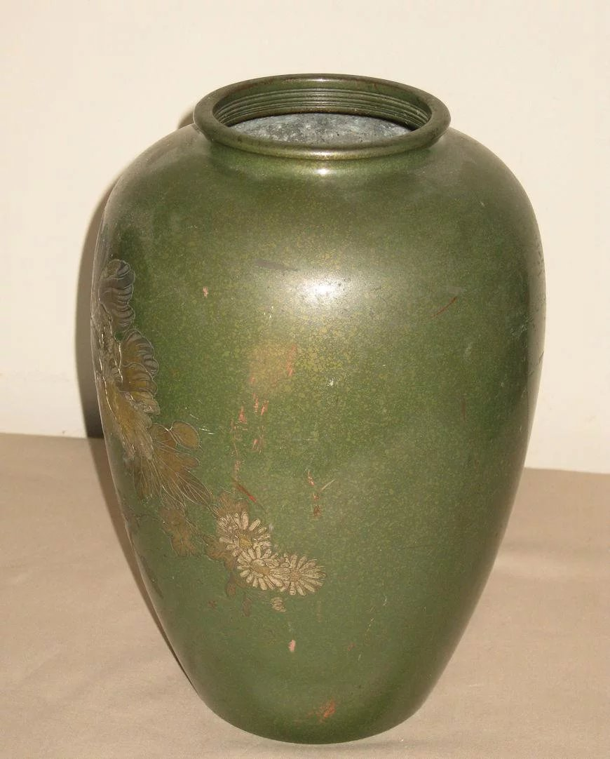 Vintage Japanese Mixed-Metal Vase : Dynasty Collections