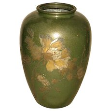 Vintage Japanese Mixed-Metal vase