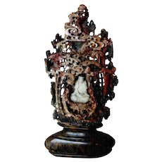 Exquisite Chinese Carved Soapstone Grotto