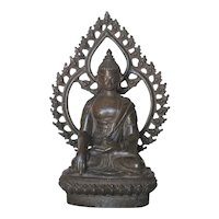 Thai Bronze Seated Bronze Buddha