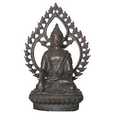 Thai Bronze Seated Bronze Buddha