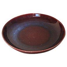 Chinese Large Porcelain Flambé Low Bowl
