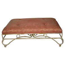Beautiful Upholstered Low Iron Bench