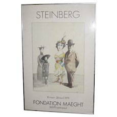 Saul Steinberg Poster - Foundation Maeght, 10 mars-30 avril 1979