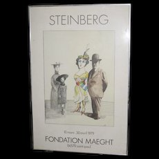 Saul Steinberg Poster - Foundation Maeght, 10 mars-30 avril 1979