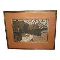 20th Century Japanese Woodblock Print by Kiyoshi Saito