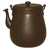 Antique  Japanese Bronze Tea Pot