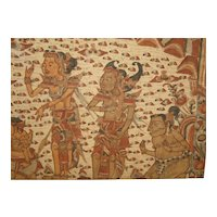 "Thai Painting on Cloth  Epic Story of ""Ramayana"","