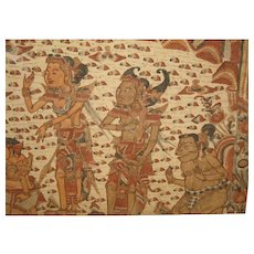 """Thai Painting on Cloth  Epic Story of """"Ramayana"""","""