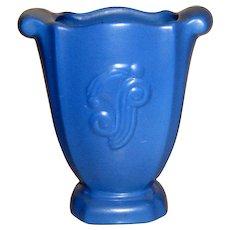 Vintage Red Wing Blue Vase #951