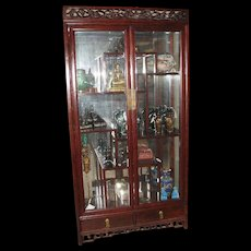 Vintage Chinese Rosewood Curio Cabinet