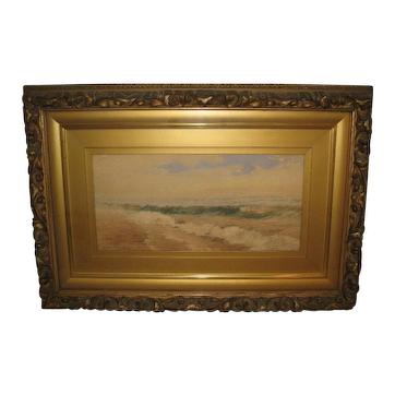 """""""Seascape"""", Painting Attributed to Ruth Wilcox"""