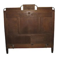 Antique Victorian Oak Bed