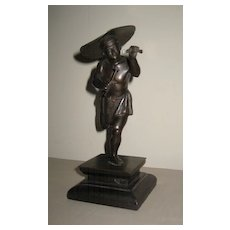 Japanese Meiji Period Bronze Running Male Figure