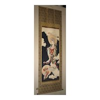Japanese Painted Scroll of Kannon