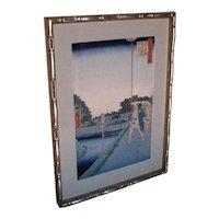 "Woodblock print by Andō Hiroshige ""100 Views of Edo"""