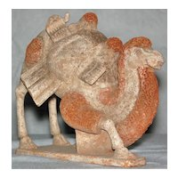 Northern Qi Dynasty Rare Pottery Kneeling Bactrian Camel