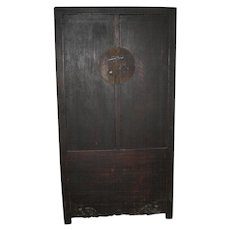 Antique Chinese Large Dark Wood Cabinet