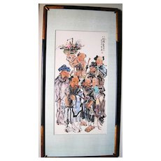 "Superb Chinese Painting of ""Eight Immortals"" Ba Xian"