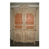 Exquisite 18/19th C. Large Italian Carved Cabinet