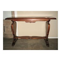 Victorian Walnut Library Table