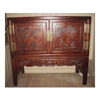 19th Century Chinese Hongmu Wood  Cabinet