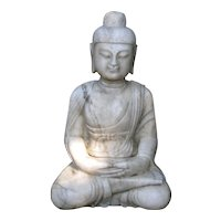 Beautiful Chinese Marble Seated Buddha