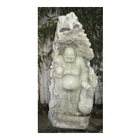 Chinese Marble Budai & Rocky Grotto