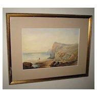 "Watercolor of an ""English Seaside"""