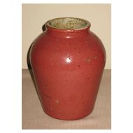 Chinese Dark-Pink Glazed Stoneware jar