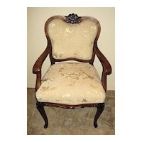 Elegant French-Style Maple Armchair