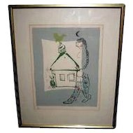 "Chagall's ""The House in My Village"" Numbered Lithograph"