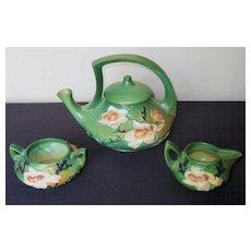 Roseville Pottery Magnolia Tea Service, Pot, Circa 1943