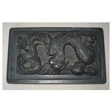 Chinese Inkstone with Dragon Lid