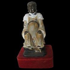 Chinese Ming Dynasty Glazed Ceramic Figure