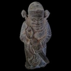 Chinese Hard Stone Figure of a Warrior with a Sword