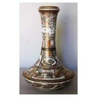 Exquisitely Painted Satsuma Pottery Vase by Jiuzan