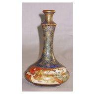 Japanese Meiji Satsuma Ceramic Kinkozan Vase