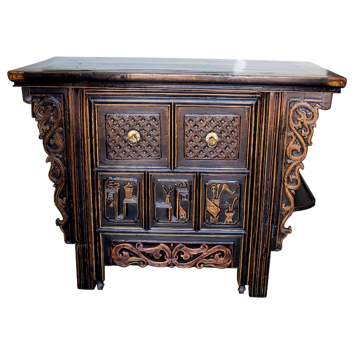 Pleasing Chinese Unique Computer Desk With Hidden Chair File Drawers Squirreltailoven Fun Painted Chair Ideas Images Squirreltailovenorg