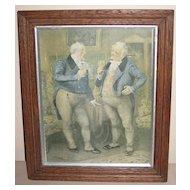 Framed English Print of two Gentlemen by Frank Reynolds
