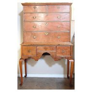 American Queen Anne Tiger Maple Highboy